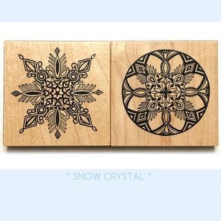 スタンプ PSX 雪の結晶 クリスタル(大)2種(印鑑/スタンプ/朱肉)