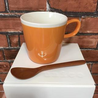 ウニコ(unico)の新品 unico ウニコ スープマグカップ&木製スプーン セット マグカップ(グラス/カップ)