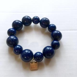 ローズバッド(ROSE BUD)のローズバッド 石 ストーン ブレスレット ブルー(ブレスレット/バングル)