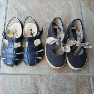 ファミリア(familiar)のfamiliar BURBERRY サンダル 靴 ※中古 2足(サンダル)