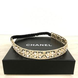 シャネル(CHANEL)の極美品 CHANEL カチューム クリスタル ココマーク 花 179(カチューシャ)