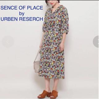 センスオブプレイスバイアーバンリサーチ(SENSE OF PLACE by URBAN RESEARCH)のURBEN RESERCH レトロフラワーシャツワンピース(ひざ丈ワンピース)