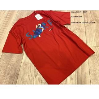 コムサメン(COMME CA MEN)のCOMME CA BETA MEN 日本製 サーフロゴTシャツ レッド(Tシャツ/カットソー(半袖/袖なし))