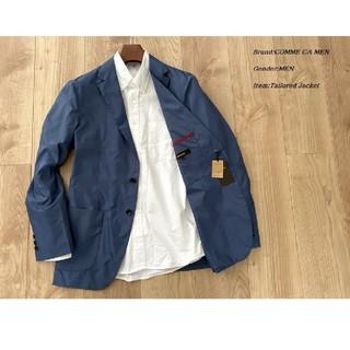 コムサメン(COMME CA MEN)のCOMME CA MEN ナイロンタフジャケット ブルー Sサイズ(テーラードジャケット)