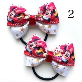 ディズニー(Disney)のディズニー ミニーマウス ハンドメイドリボン ヘアゴム(ファッション雑貨)