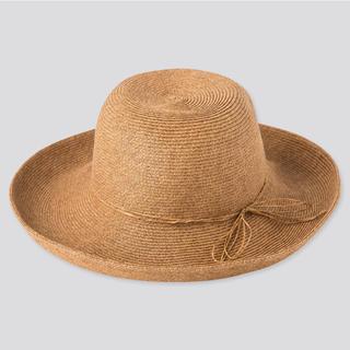 ユニクロ(UNIQLO)の新品☆UVカット☆帽子(麦わら帽子/ストローハット)