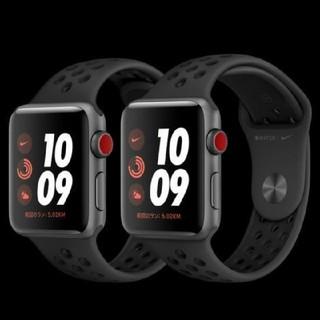 アップルウォッチ(Apple Watch)のApple Watch Series3 Nikeスポーツバンド セルラー(腕時計(デジタル))