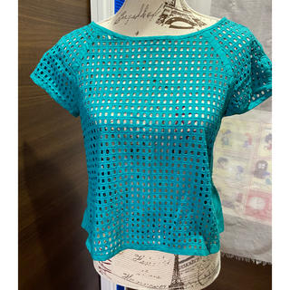ランバンオンブルー(LANVIN en Bleu)のランバンオンブルー トップス グリーン(カットソー(半袖/袖なし))