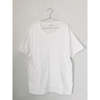 ハコ(haco!)のhaco! ハコ PBPオーガニックコットンのおなかポケット付きTシャツ 白(Tシャツ(半袖/袖なし))
