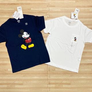UNIQLO - 【新品】ユニクロ ミッキー    コラボ tシャツ  2枚 120