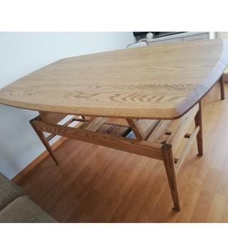 ウニコ(unico)のモモナチュラル 昇降テーブル(ダイニングテーブル)
