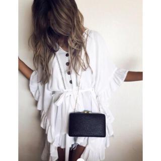 アリシアスタン(ALEXIA STAM)のアリシアスタン Ruffle Trim Summer Dress(シャツ/ブラウス(半袖/袖なし))