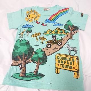 DOUBLE.B - ミキハウス ダブルB リゾートプリント♪半袖Tシャツ 110