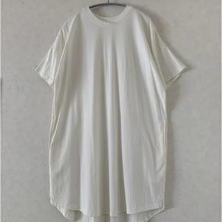 Tシャツ カットソー ワンピース(ひざ丈ワンピース)