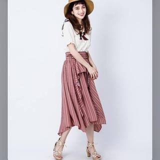 アクシーズファム(axes femme)のストライプ スカート(ロングスカート)