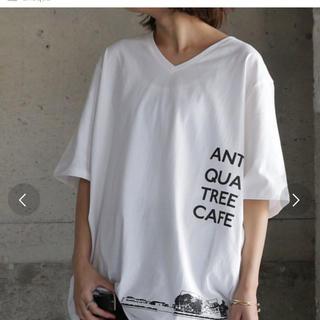 アンティカ(antiqua)のアンティカ      デザイン Tシャツ  X L  新品タグ(Tシャツ(半袖/袖なし))