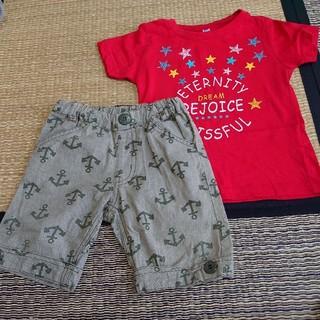 ムージョンジョン(mou jon jon)のパンツ95、Tシャツ100 (パンツ/スパッツ)