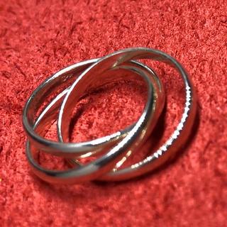 三連リング シルバー925リング 指輪 銀 シンプル 指輪 ギフト トリニティ(リング(指輪))