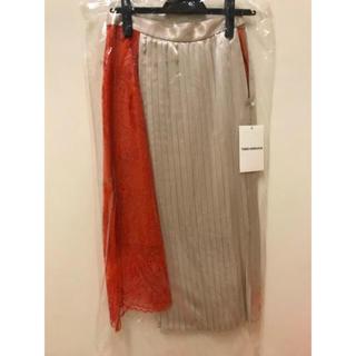 バーニーズニューヨーク(BARNEYS NEW YORK)のtaro horiuchi  プリーツスカート未使用(ひざ丈スカート)