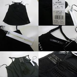 オニール(O'NEILL)のC(女M 黒)オニール★タンクトップ 袖なし 627600 キャミソール 綿素材(サーフィン)