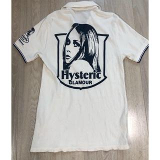 ヒステリックグラマー(HYSTERIC GLAMOUR)のHYSTERIC GLAMOUR ガール バックプリント ポロシャツ 半袖 M(ポロシャツ)
