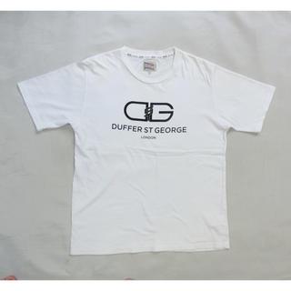 ザダファーオブセントジョージ(The DUFFER of ST.GEORGE)のTHE DUFFER OF ST. GEORGE 白の半袖Tシャツ XL(Tシャツ/カットソー(半袖/袖なし))