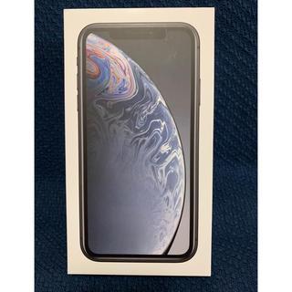 アイフォーン(iPhone)のiPhone XR 64GB ブラック 新品未使用 シムフリー(スマートフォン本体)