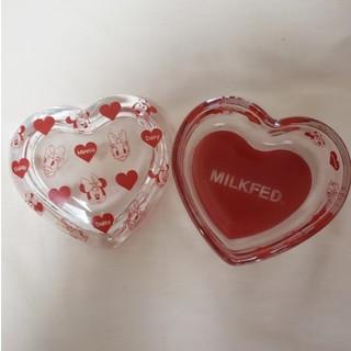 ミルクフェド(MILKFED.)の最終価格 ミルクフェド ディズニーコラボ ハートガラスケース ミニー デイジー(小物入れ)