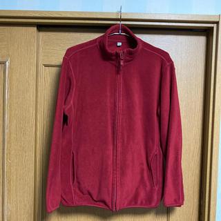 ユニクロ(UNIQLO)のユニクロ フリース ジャケット 【 L 】 Red   古着(ブルゾン)