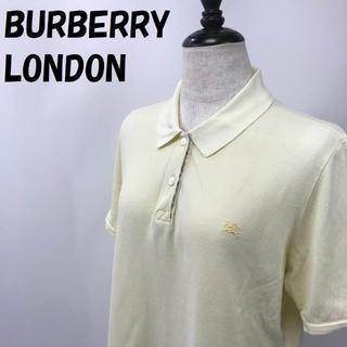 バーバリー(BURBERRY)の【人気】バーバリー ロンドン 半袖ポロシャツ 鹿の子 サイズ15 レディース(ポロシャツ)