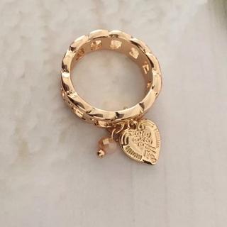 ローズバッド(ROSE BUD)の新品 ハートデザインチャーム付きデザインリング 指輪(リング(指輪))