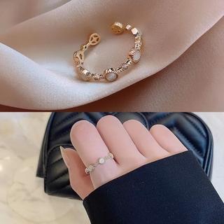 アネモネ(Ane Mone)の新品 ストーン風デザインリング 指輪 ゴールドカラー(リング(指輪))