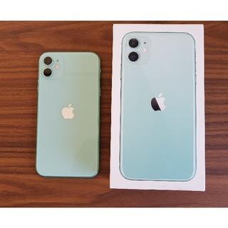 アイフォーン(iPhone)の【未使用に近い】 iPhone11 128GB グリーン SIMフリー(スマートフォン本体)