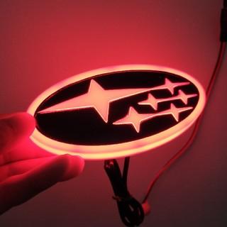 スバル(スバル)のスバル エンブレム 4D LED レッド(車外アクセサリ)
