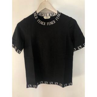 フェンディ(FENDI)のFENDI/フェンディ ログ コットン Tシャツ◆ブラック(Tシャツ/カットソー(半袖/袖なし))