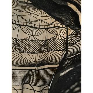 ルシェルブルー(LE CIEL BLEU)のルシェルブルー ワンピース 刺繍 ブラック(ひざ丈ワンピース)