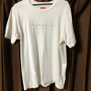 シュプリーム(Supreme)のsupreme 刺繍 Tシャツ シュプリーム 白(Tシャツ/カットソー(半袖/袖なし))