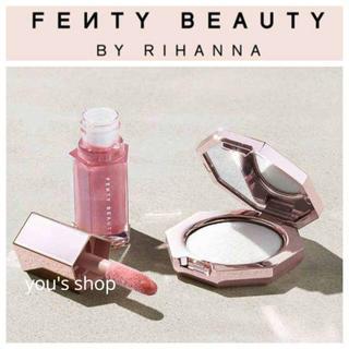 セフォラ(Sephora)の♡FENTY BEAUTY♡ダイアモンドボムベイビーミニリップグロス&ハイライタ(フェイスカラー)