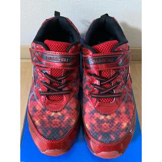 アキレス(Achilles)の瞬足 赤 ランニングシューズ 運動靴 24.5cm(スニーカー)