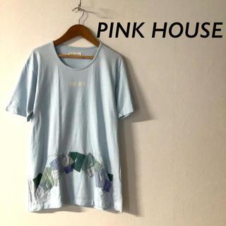 ピンクハウス(PINK HOUSE)のPINK HOUSE パッチワーク ポケット 半袖 Tシャツ フロントロゴ(Tシャツ(半袖/袖なし))