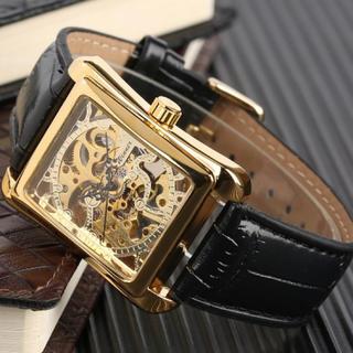 新品 送料込み WINNER メンズスケルトン 自動巻き 腕時計 ゴールド (腕時計(デジタル))
