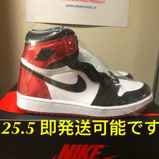 """ナイキ(NIKE)のNIKE WMNS AIR JORDAN 1 SATIN """"BLACK TOE""""(スニーカー)"""