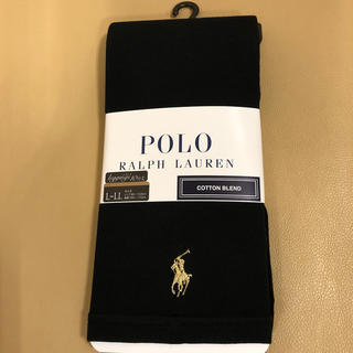 ポロラルフローレン(POLO RALPH LAUREN)の新品 レディース  ポロラルフローレン 夏用綿混10分丈黒レギンス L〜LL寸(レギンス/スパッツ)