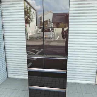 三菱 - 三菱◆6ドア冷蔵庫 ガラスドア517L 2018年製◆  MR-WX52D-BR