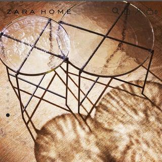 【大幅値下げ】ZARA HOME ガラステーブル ローテーブル(ローテーブル)