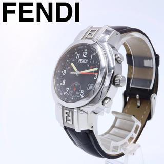 フェンディ(FENDI)の専用箱【希少品】FENDI 4500G クロノグラフ デイト レザー オロロジ(腕時計(アナログ))