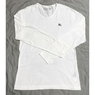 バーバリーブラックレーベル(BURBERRY BLACK LABEL)のバーバリーブラックレーベル メンズ 白 長袖Tシャツ L ロンT(Tシャツ/カットソー(七分/長袖))
