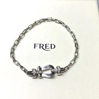 フレッド(FRED)の極美品 FRED フォース10 MM 純正ダイヤ ブレスレット リンクチェーン(ブレスレット/バングル)