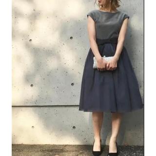 ティアラ(tiara)のチュールワンピース(ミディアムドレス)
