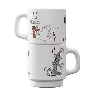 タリーズコーヒー(TULLY'S COFFEE)のTully's Coffee タリーズ トムとジェリー コラボ  マグカップ2点(グラス/カップ)